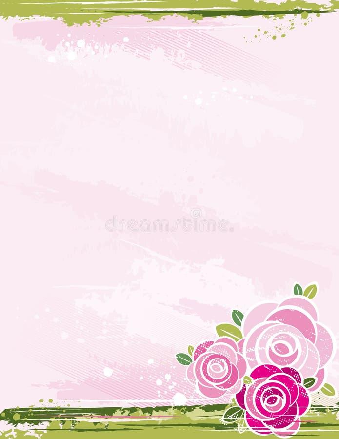 ro för bakgrundsbukettpink stock illustrationer