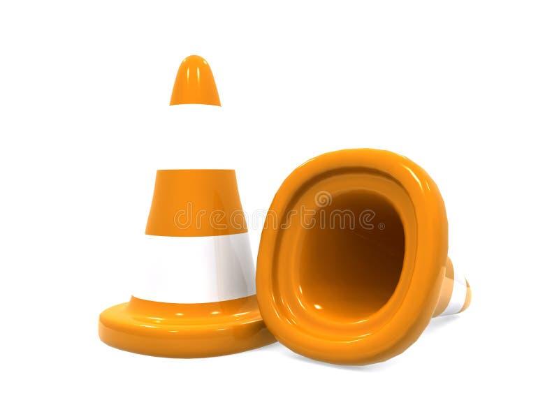 Download Rożka ruch drogowy ilustracji. Ilustracja złożonej z pomarańcze - 13328492