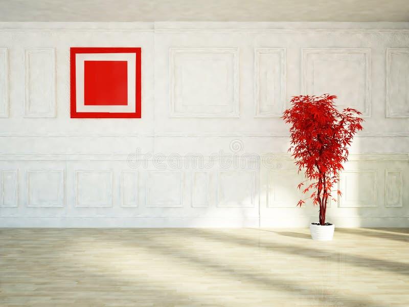 Download Roślina i czerwony obrazek ilustracji. Ilustracja złożonej z kwadrat - 41954170
