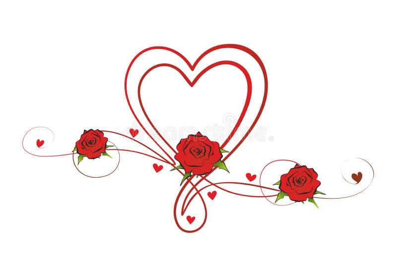 Ro och hjärtor stock illustrationer