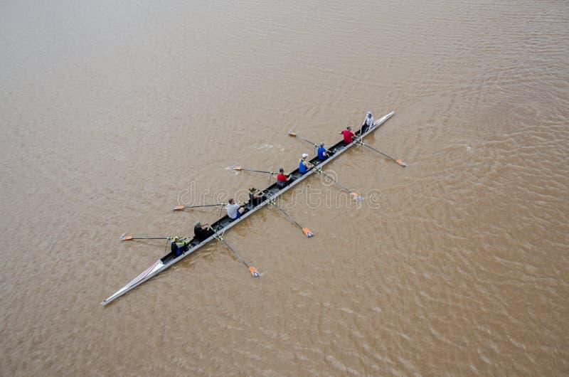 Ro på den Oklahoma floden royaltyfri fotografi