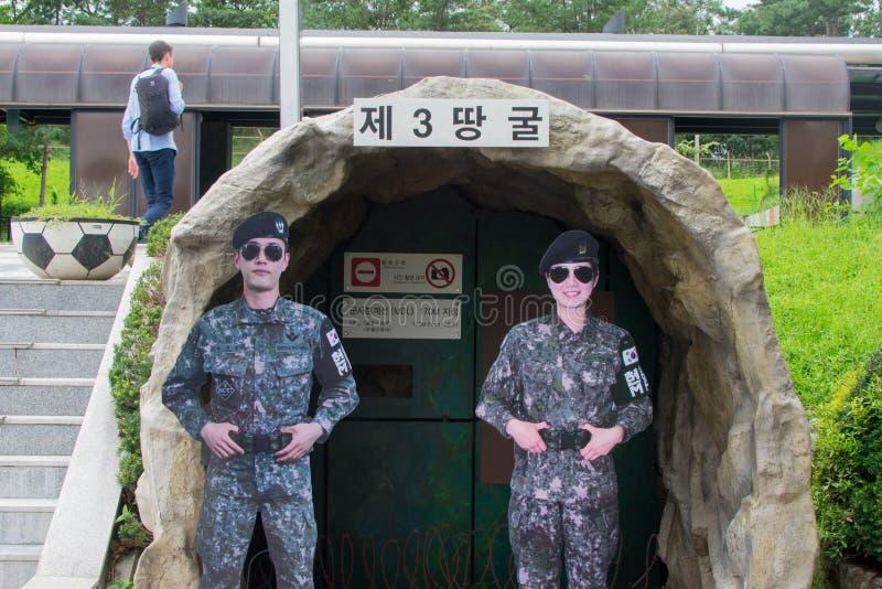 3ro reproducción coreana del túnel de la infiltración imagen de archivo