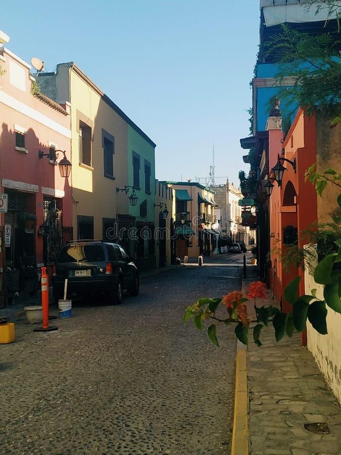 Barrio antiguo Monterrey stock images