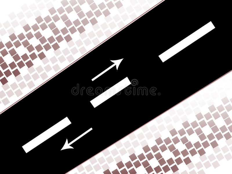 Download Road stock illustration. Image of traffic, driving, bending - 10628804