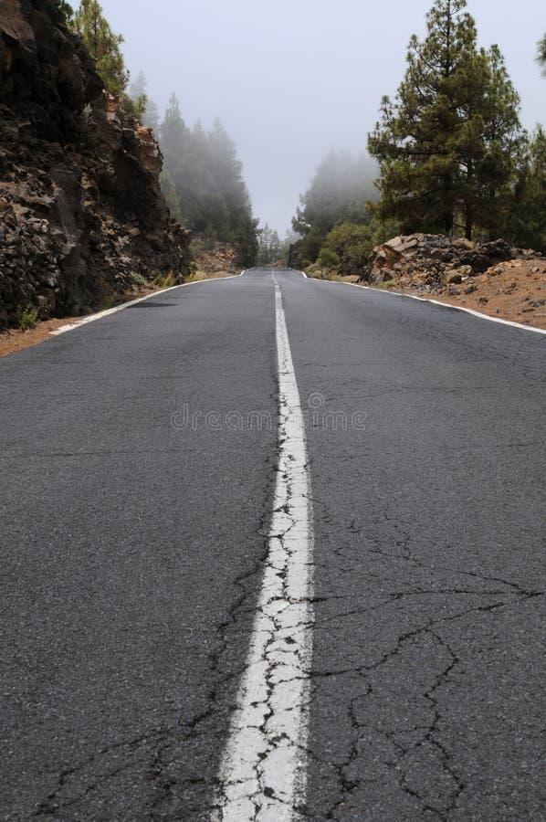 Road. To pico del teide on teneriffa stock photos