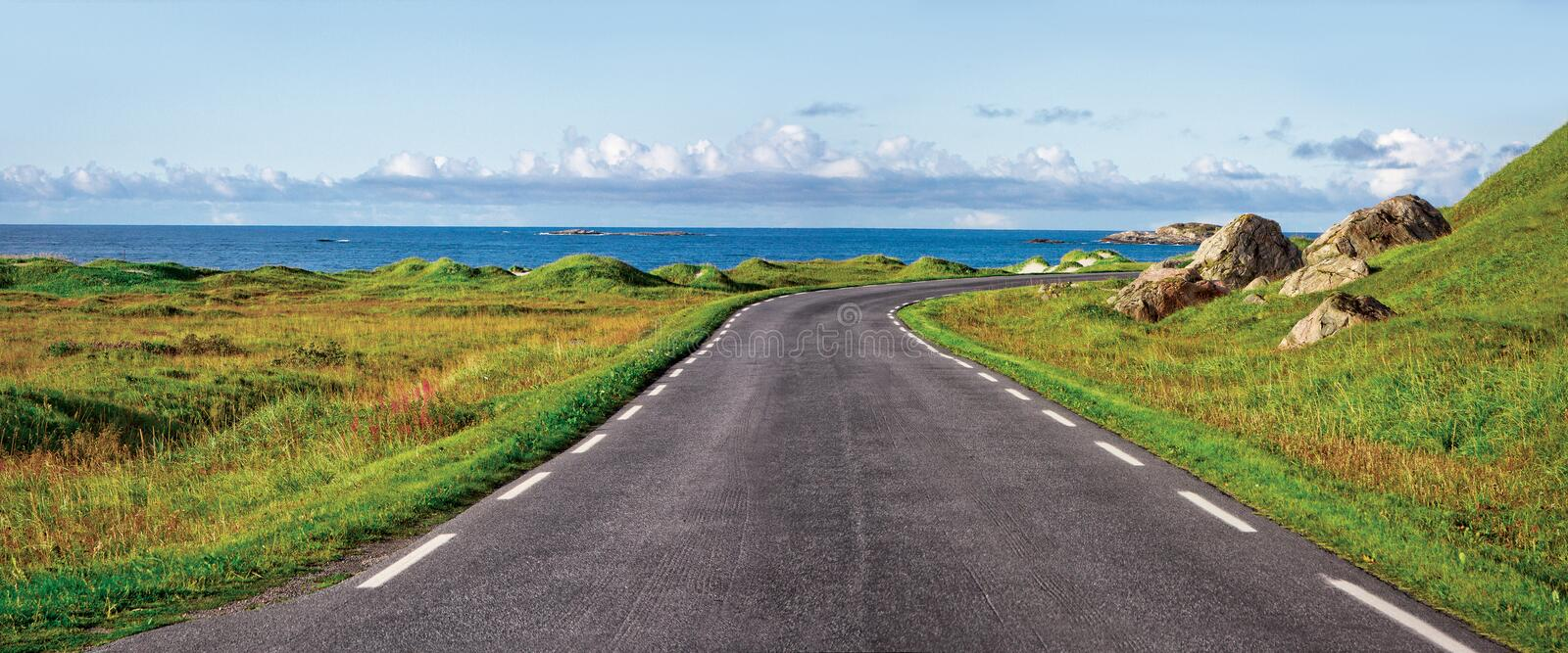 Download Road stock image. Image of coast, grass, curvy, drive - 14862001