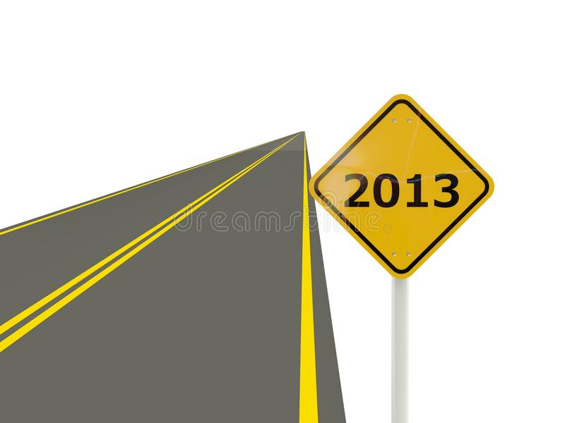 Download Road With 2013 New Year Sign Stock Illustration - Image: 27049438