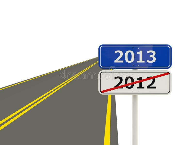Download Road With 2013 New Year Sign Stock Illustration - Image: 27049501