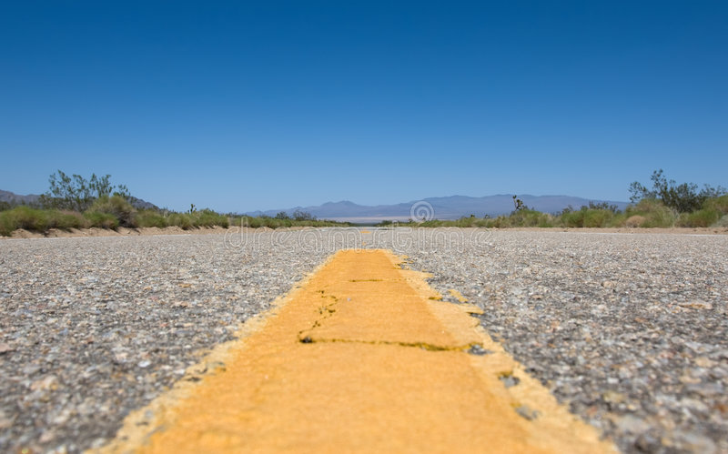Road. Scenic road in the USA at sunny day stock photo