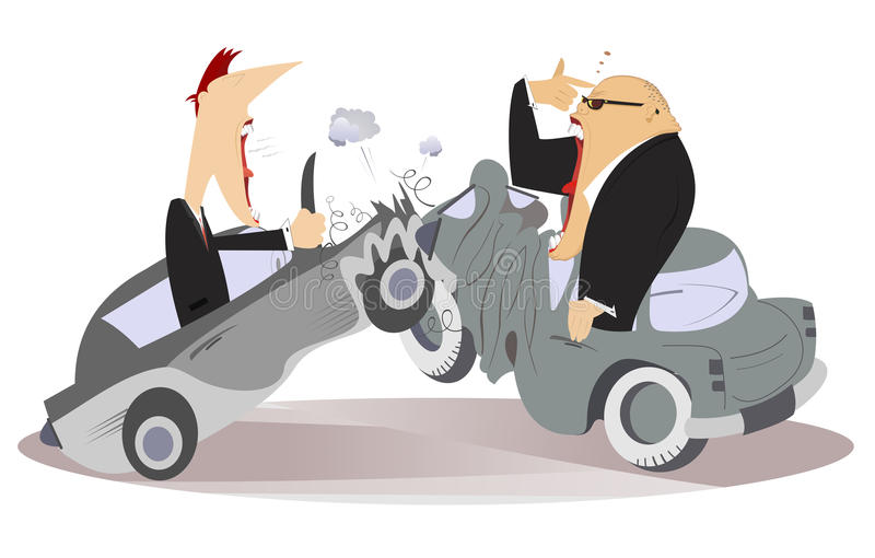 Road accident royalty free illustration