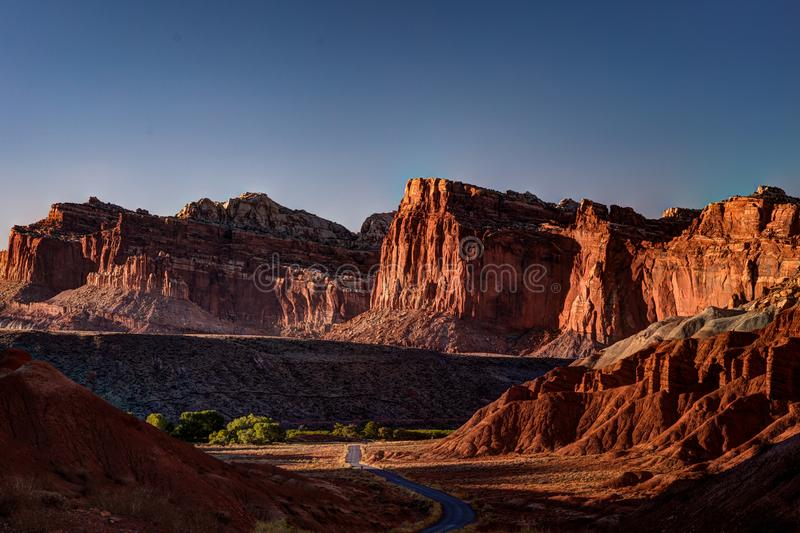 Capitol Reef Scenic Drive, Capitol Reef National Park, Utah, USA royalty free stock images