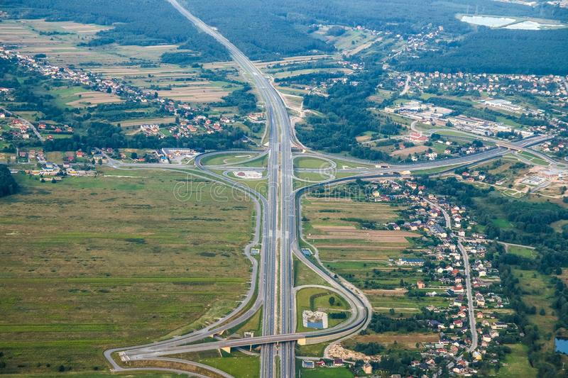 Road, Aerial Photography, Highway, Bird's Eye View stock image