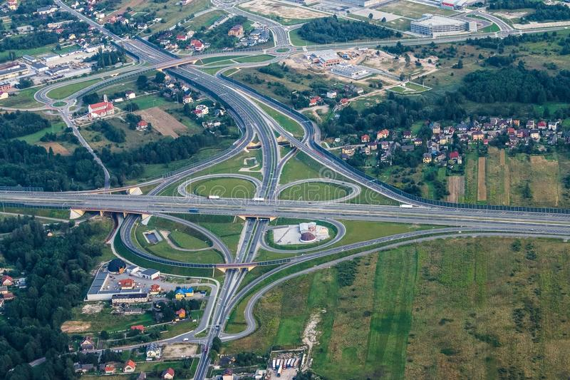 Road, Aerial Photography, Metropolitan Area, Bird's Eye View stock image