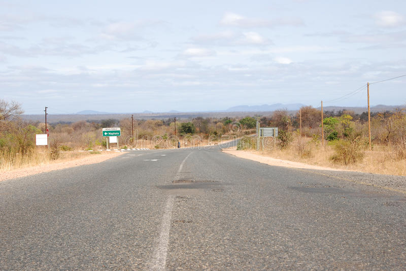 Road in Africa. Tarmac road through the South African countryside stock photos