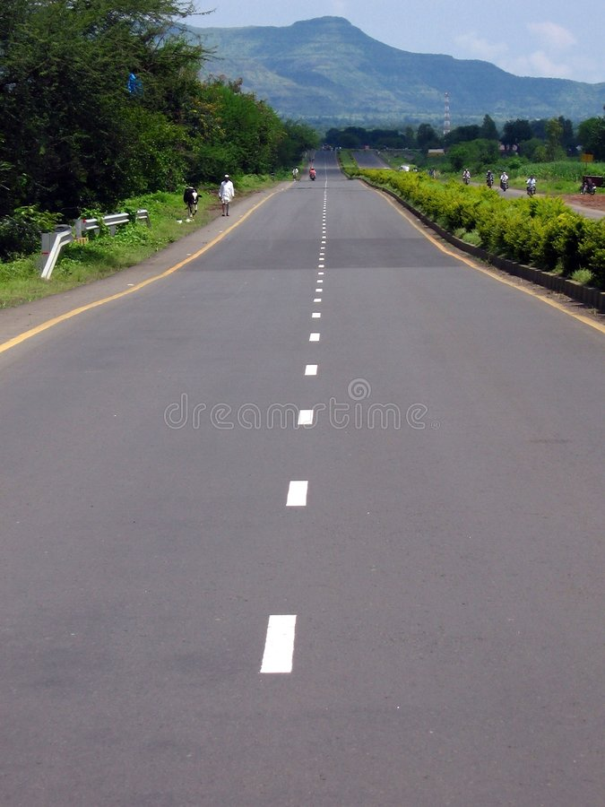 The Road Ahead. A newly constructed highway in India looks beautiful royalty free stock images