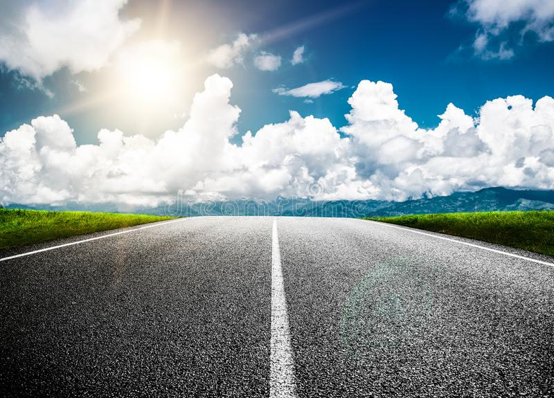 Road ahead into the future stock photography