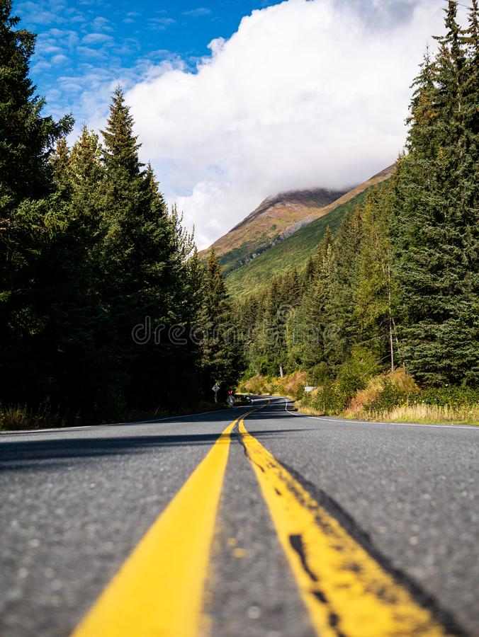 Road in Alaska royalty free stock image