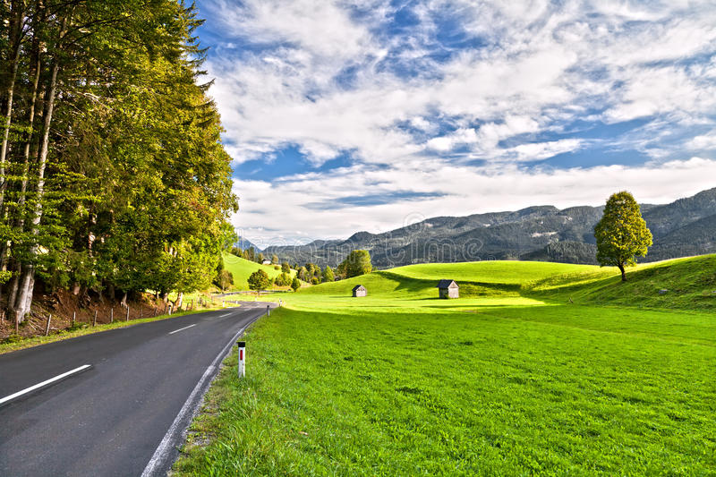 Download Road in the Alps stock image. Image of forest, cloud - 21572087