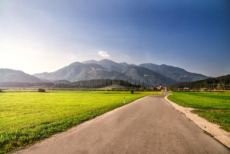 Road through Alps. royalty free stock photography