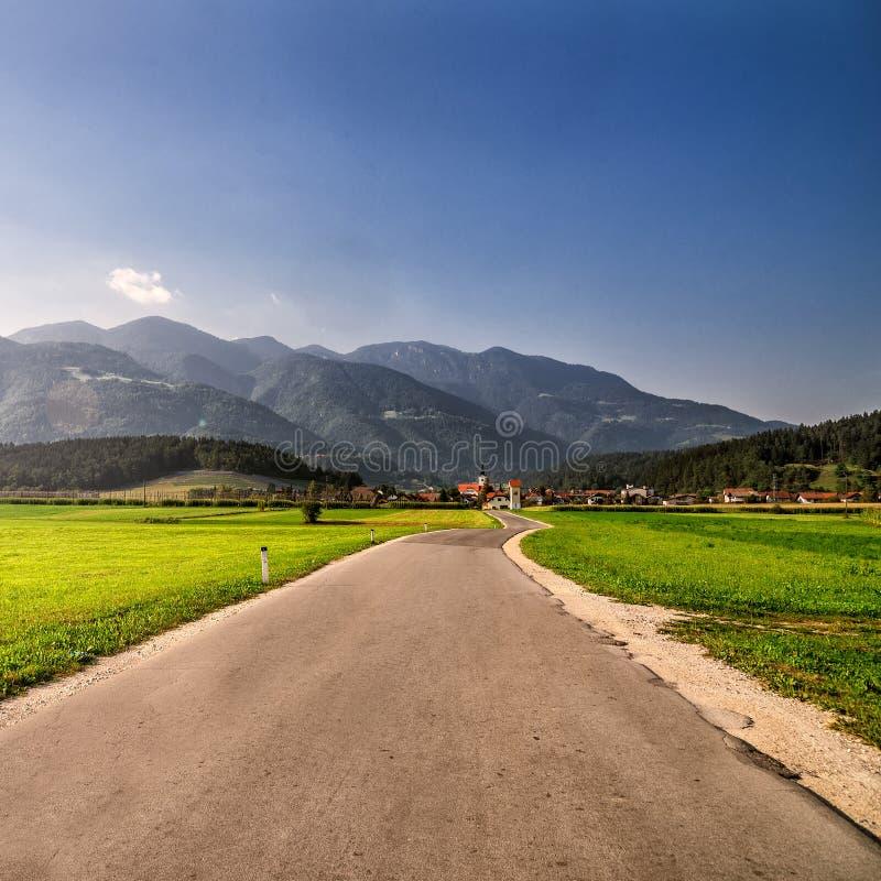 Road through Alps. stock photography