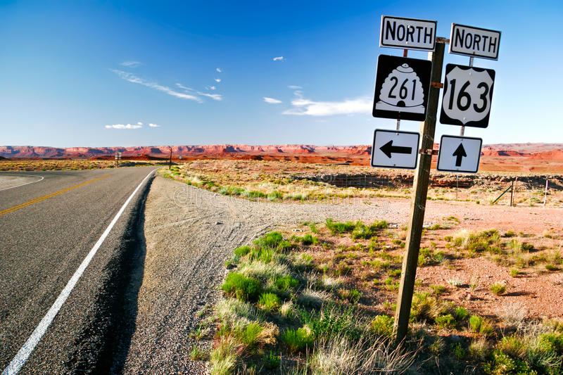 Road of Arizona royalty free stock photography