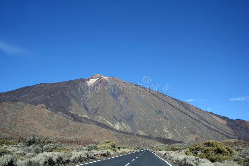 The road around Teide volcano royalty free stock photography