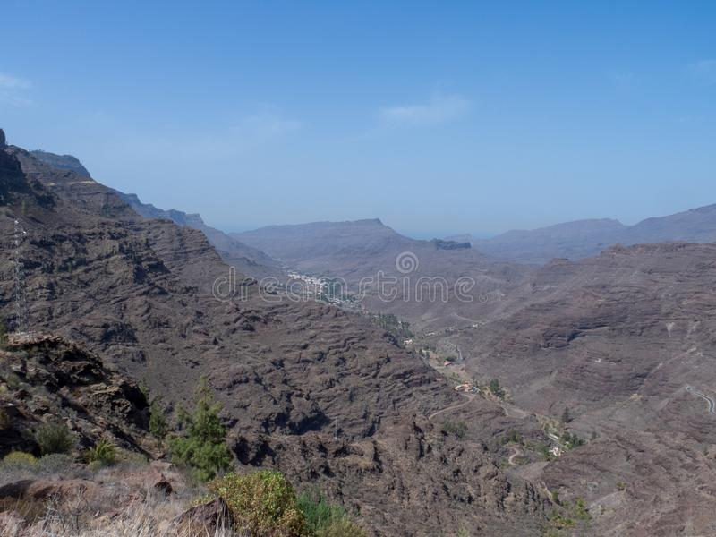 The road between Arteara and Roque Nublo, Gran Canaria. Island, Spain. Gran Canaria is the second most populous of the Canary Islands royalty free stock image