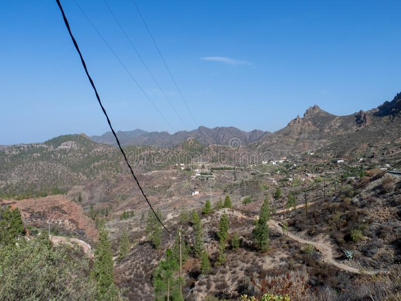 The road between Arteara and Roque Nublo, Gran Canaria. Island, Spain. Gran Canaria is the second most populous of the Canary Islands royalty free stock photography