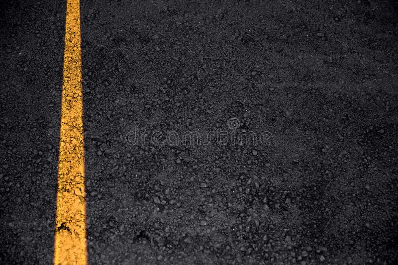 Road asphalt texture with traffic line for transport. Background with space for text royalty free stock photography