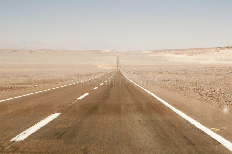 Road on Atacama desert, Chile stock photos