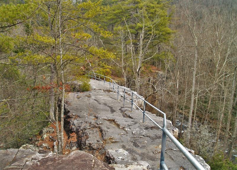 Trail Across The Top of Backbone Rock royalty free stock images