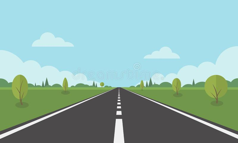 Road 1 vector illustration