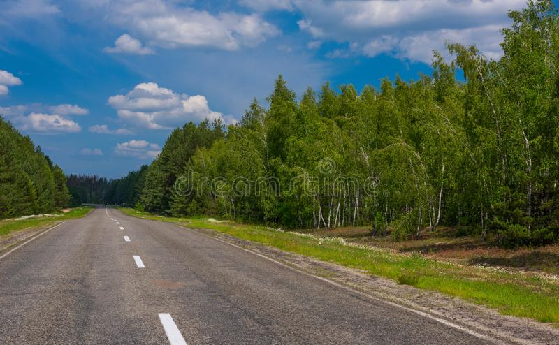 Road on the background of nature stock image