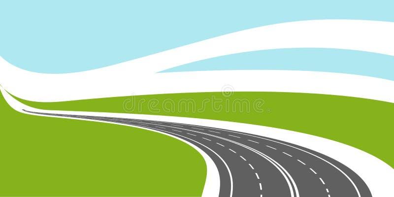 Road background vector illustration