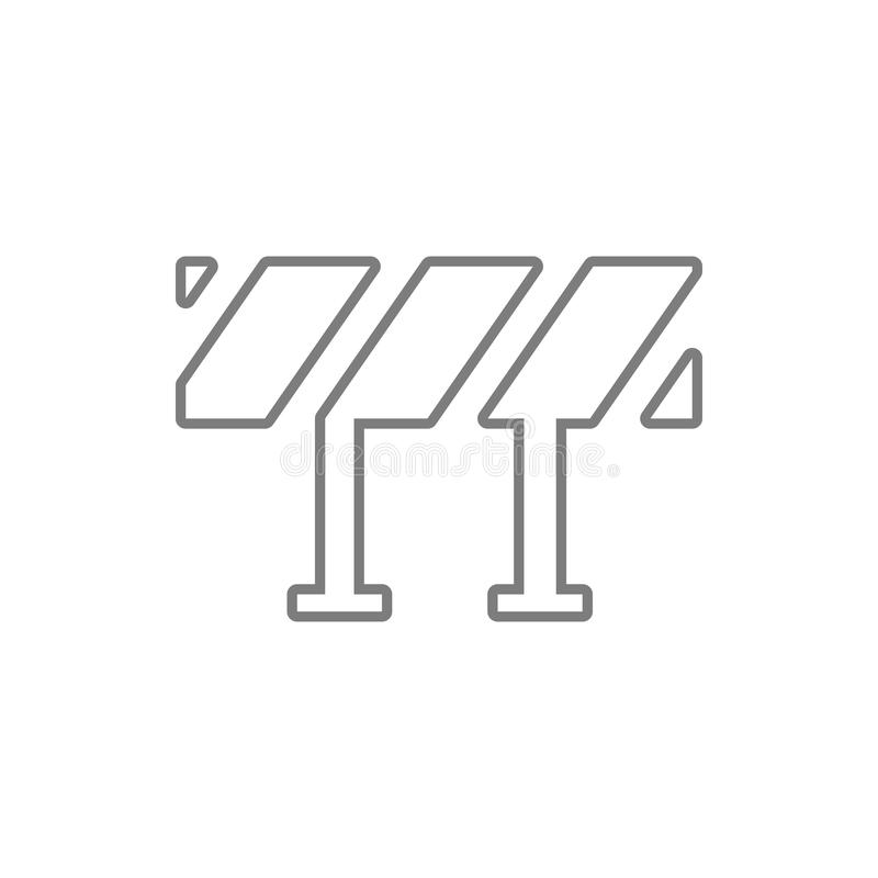 Road barrier icon. Element of cyber security for mobile concept and web apps icon. Thin line icon for website design and. Development, app development on white royalty free illustration