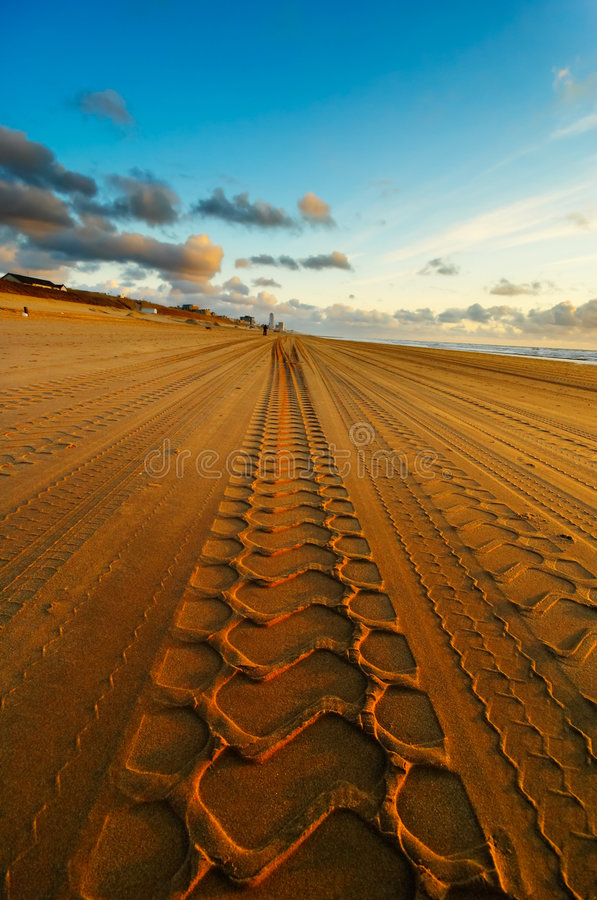 Road on the beach royalty free stock images