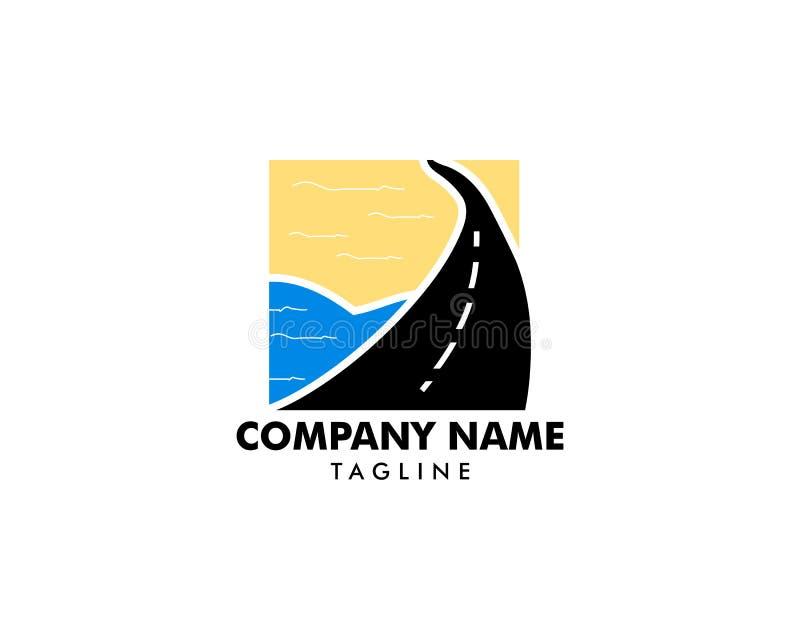 Road Beach logo design Vector stock illustration