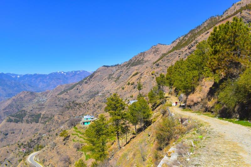 Hill road of   himachal pradesh royalty free stock image