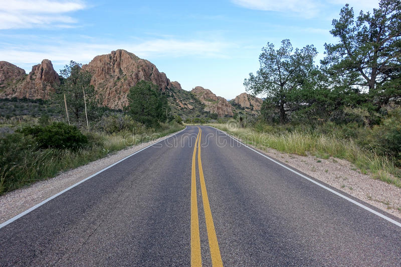 Road in the Big Bend National Park. stock photo