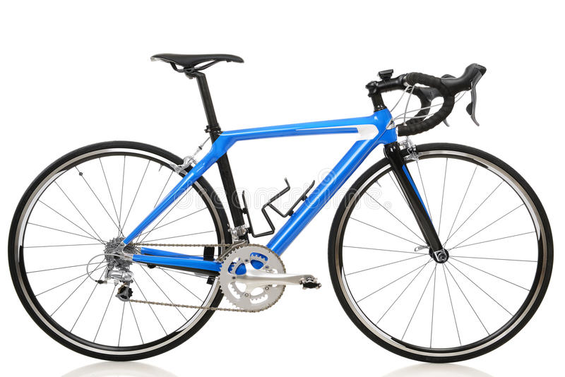 Road bike. Race road bike isolated on white background stock images