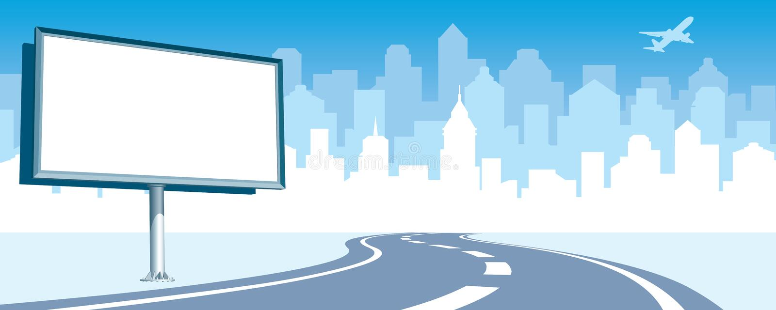 Road billboard royalty free illustration