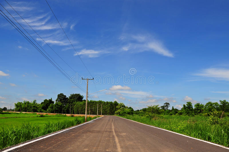 Download Road with blue sky stock photo. Image of outdoor, country - 21066458