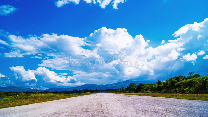Road blue sky royalty free stock photo