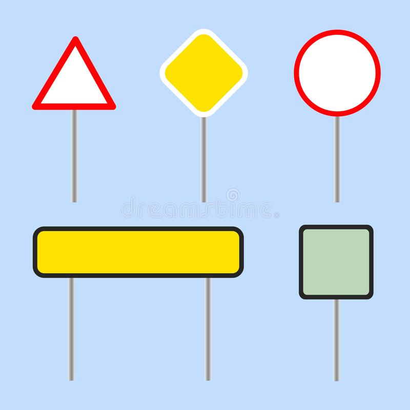 Road board collection, road signs - vector vector illustration