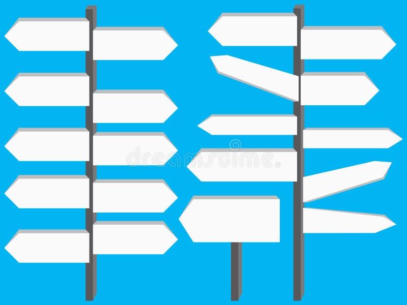 Road Board Sign Set stock illustration