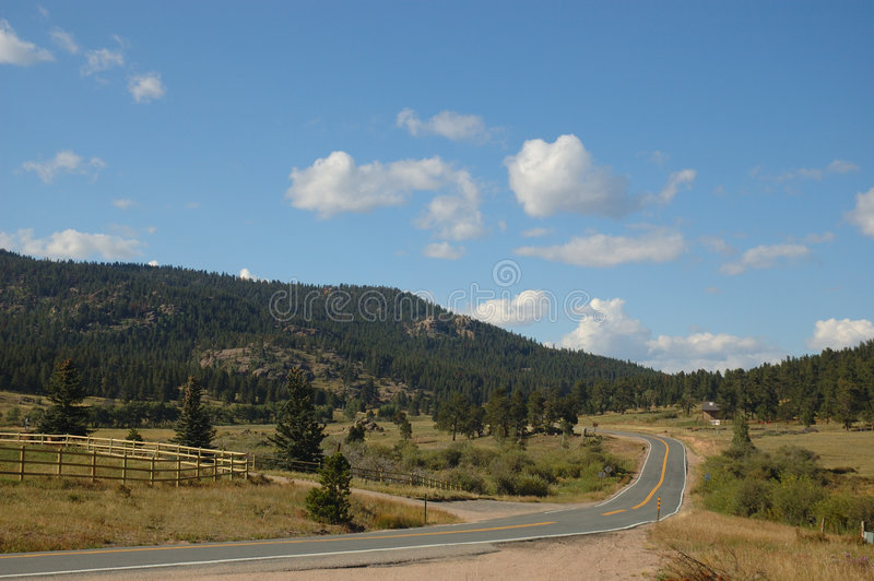 A Road In Boulder, Colorado Royalty Free Stock Photography