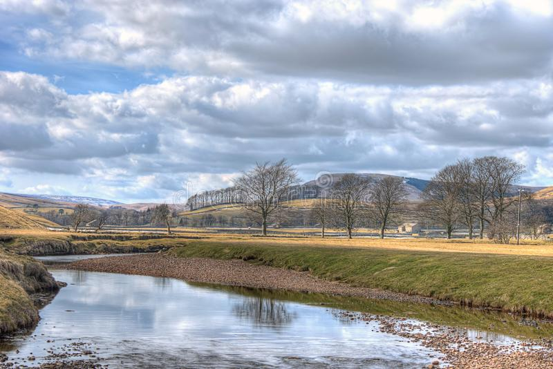 Near Hawes village in the Yorkshire Dales - winter stock image