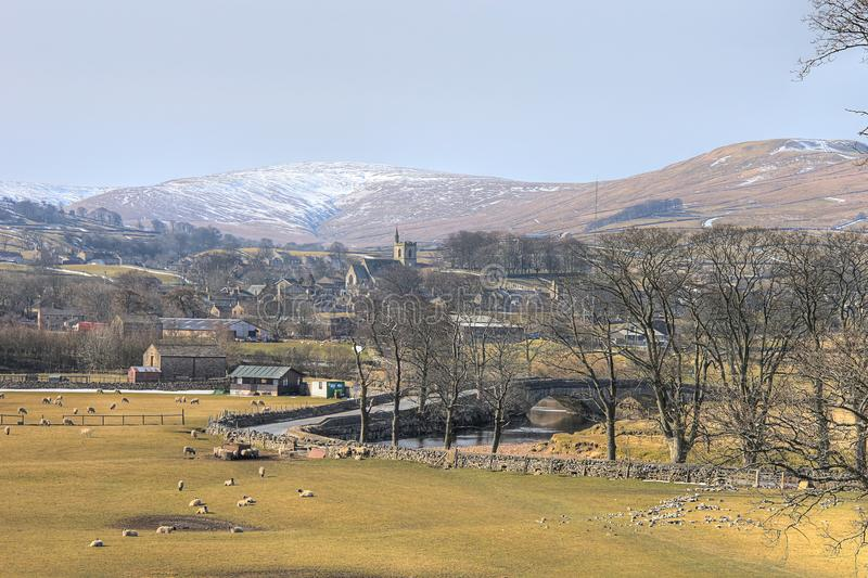 Hawes village in the Yorkshire Dales - winter royalty free stock photo