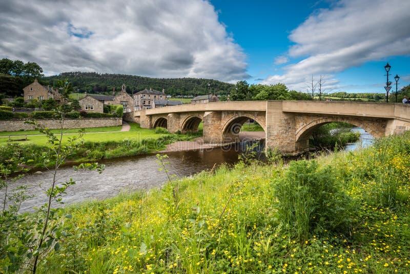 Road bridge at Rothbury royalty free stock photography
