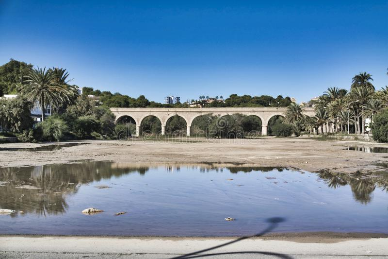 Road bridge in Spain. On a sunny summers day stock photography